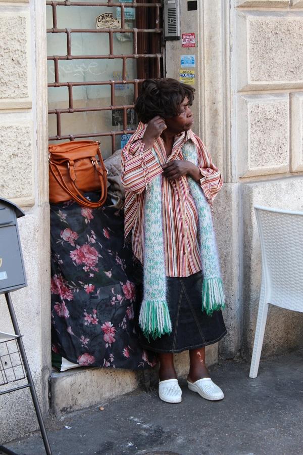 13. Straatafereel op de Via Sistina
