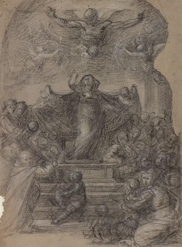 02 Compositietekening voor het schilderij Madonna della Misericordia_Museum Boijmans Van Beuningen