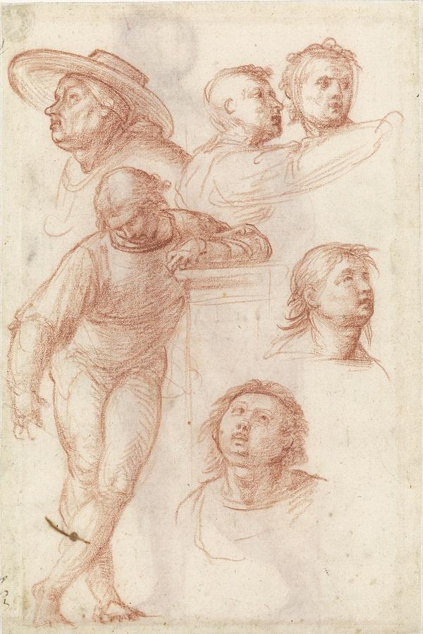 03 studies voor omstanders in het schilderij Madonna della Misericordia_Museum Boijmans Van Beuningen