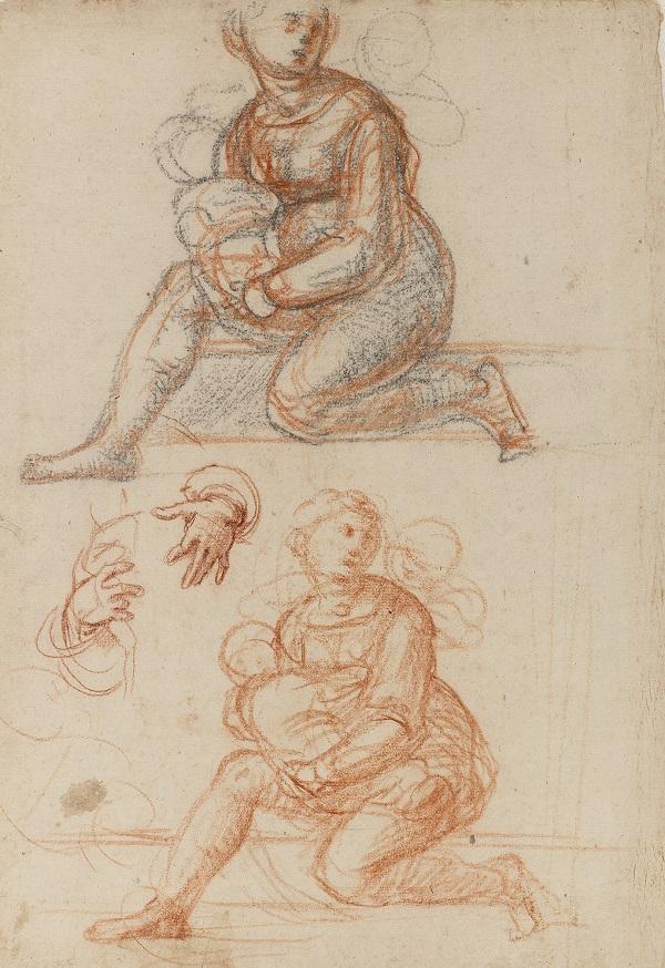 06 studie voor een bijfiguur in het schilderij Madonna della Misericordia_Museum Boijmans Van Beuningen