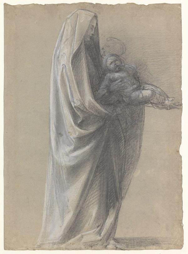 08 Studie voor de staande Maria met Christuskind_Museum Boijmans Van Beuningen