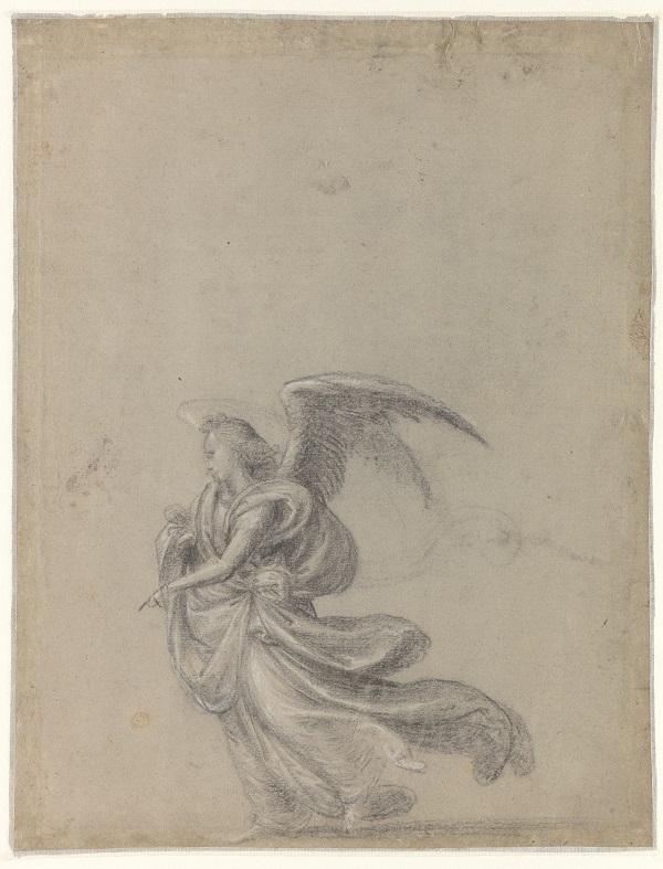 13 Studie voor de zwevende engel rechtsboven (recto)_Museum Boijmans Van Beuningen