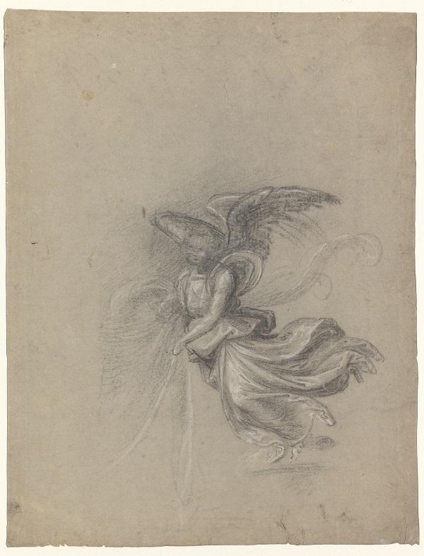 14 Studie voor de lopende engel rechtsonder (verso)_Museum Boijmans Van Beuningen
