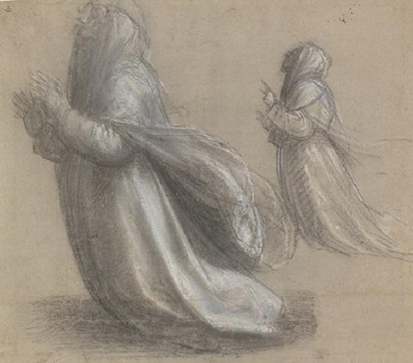 17 Twee studies voor de knielende heilige Catharina van Siena_Museum Boijmans Van Beuningen