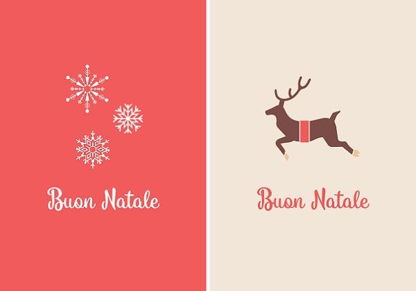kaarten-a6-little-rome-kerst-natale-kerstboom-winter-sterren-rood