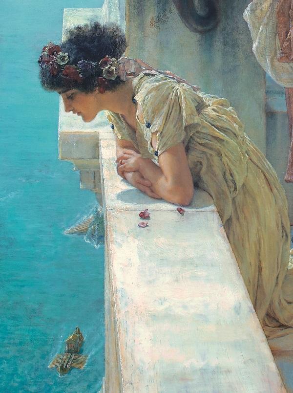 campagnebeeld-alma-tadema-klassieke-verleiding-sir-lawrence-alma-tadema-een-gunstig-uitkijkpunt-detail-1895