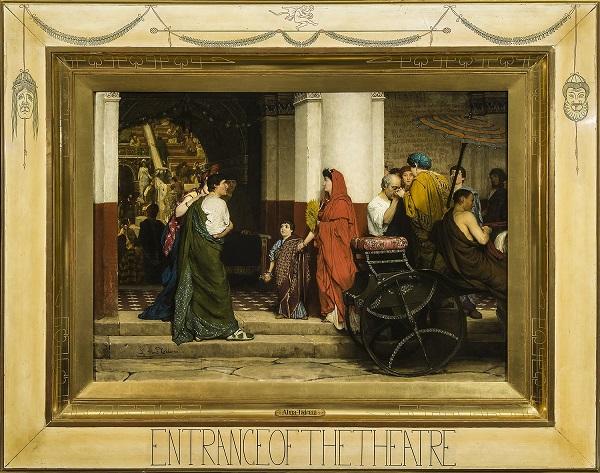 sir-lawrence-alma-tadema-ingang-van-het-theater-1866