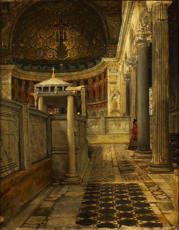 sir-lawrence-alma-tadema-interieur-van-de-kerk-van-san-clemente-rome-1863