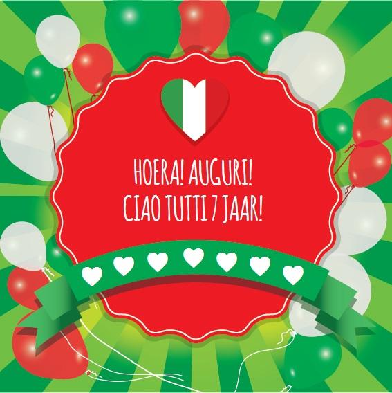 gefeliciteerd italiaanse