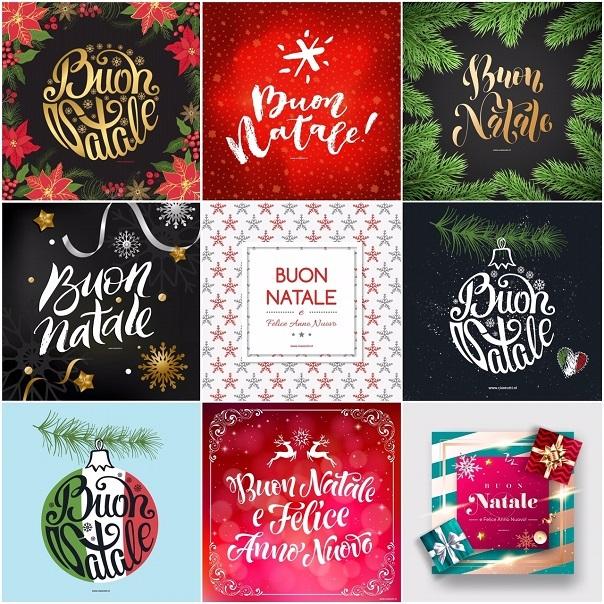 50x Buon Natale Italiaanse Kerstkaarten Voor Familie Vrienden