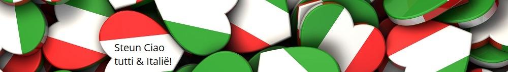Steun Ciao tutti & onze Italiaanse partners