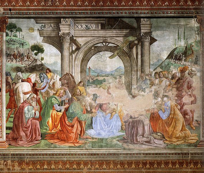 Adorazione dei Magi - Cappella Tornabuoni - Santa Maria Novella Florence