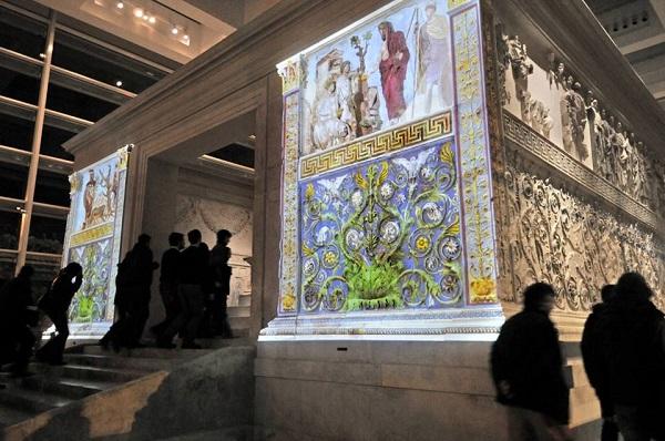 Ara-Pacis-Rome-kleur-Augustus