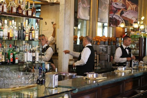 Barista's van koffiehuis Gambrinus