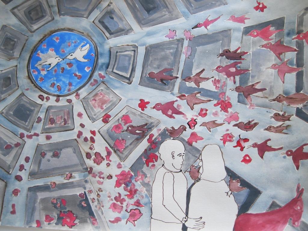 Blumenthal-Pantheon-rozenregen