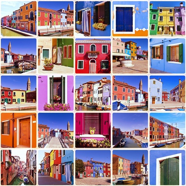 Burano-collage