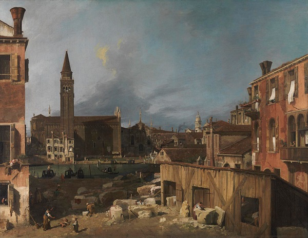 Canaletto-De-steenhouwerswerf-The-National-Gallery-Londen