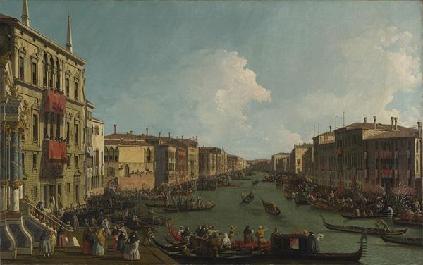 Canaletto-Een-regatta-op-het-Canal-Grande-The-National-Gallery-Londen