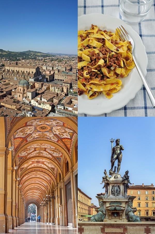 City-Walk-Bologna-piazza-pasta-portici