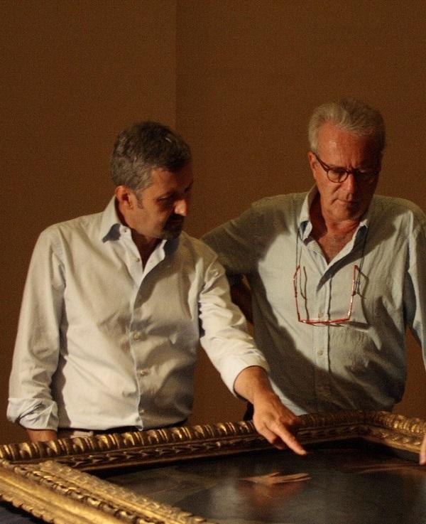 De curators van de tentoonstelling, Carlo Falciani (links) en Antonio Natali (rechts)