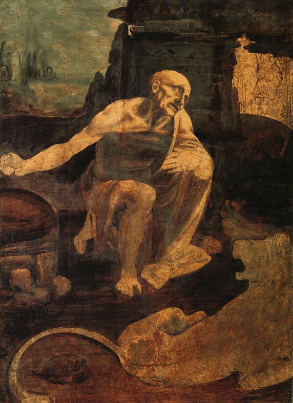 De-heilige-Hieronymus-Leonardo-da-Vinci