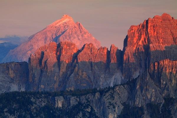 Dolomieten-zonsondergang
