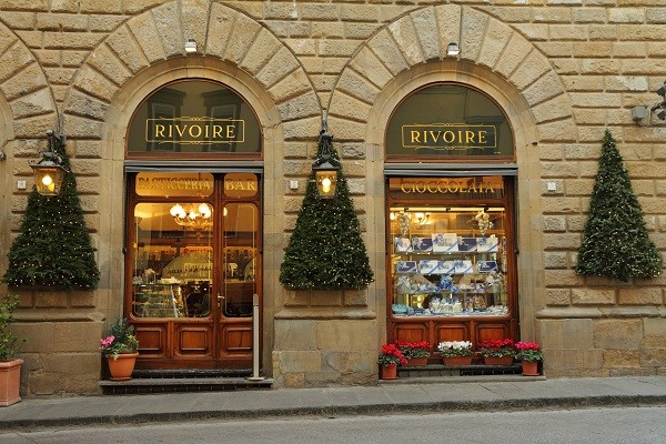 FLORENCE - DEC 5:Rivoire Cafe - founded by royal chocolatier in