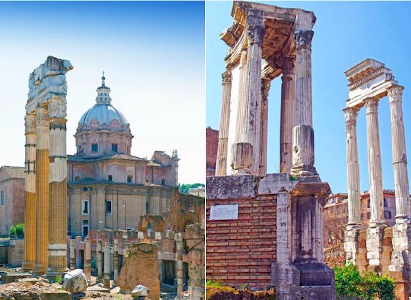 Forum-Romanum-detail-Vestatempel-Castor-en-Pollux
