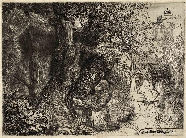 Franciscus, biddend bij een boom (B 107)