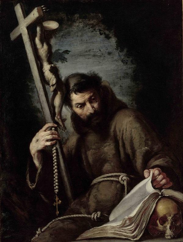 Franciscus mediteert, Bernardo Strozzi, ca. 1610-1615, Museum Boijmans Van Beuningen, Rotterdam, foto Studio Tromp