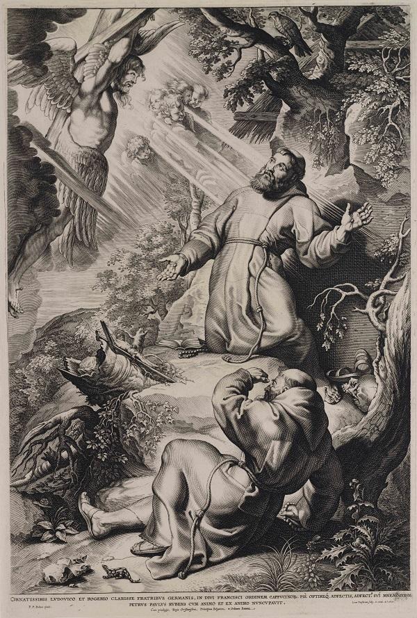 Franciscus ontvangt de stigmata, Peter Paul Rubens (ontwerper),1620, Teylers Museum, Haarlem