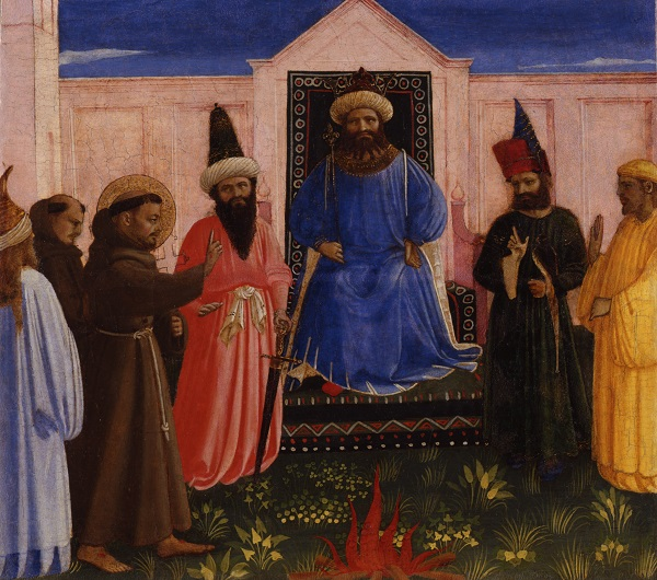 Franciscus voor de sultan, Fra Angelico, 1428-1429, Lindenau-Museum, Altenburg, Duitsland, foto Bernd Sinterhauf