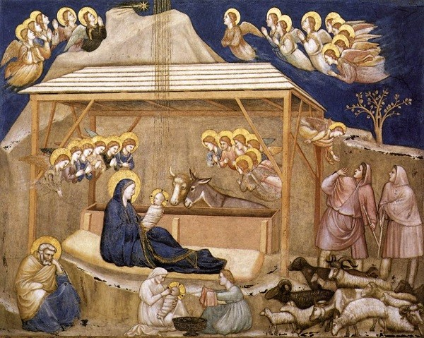Giotto-geboorte-Christus-fresco-San-Francesco-Assisi