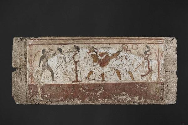 Gladiatoren-fresco-duel-voor-de-doden-Valkhof-Nijmegen