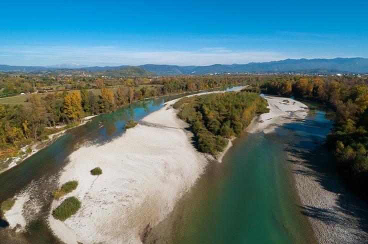 fiume Isonzo nei pressi di Savogna