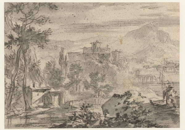 Italiaans landschap, Nicolaes Pietersz. Berchem, Jan Asselijn, Matheus Bloem, 1620 - 1700, Rijksmuseum