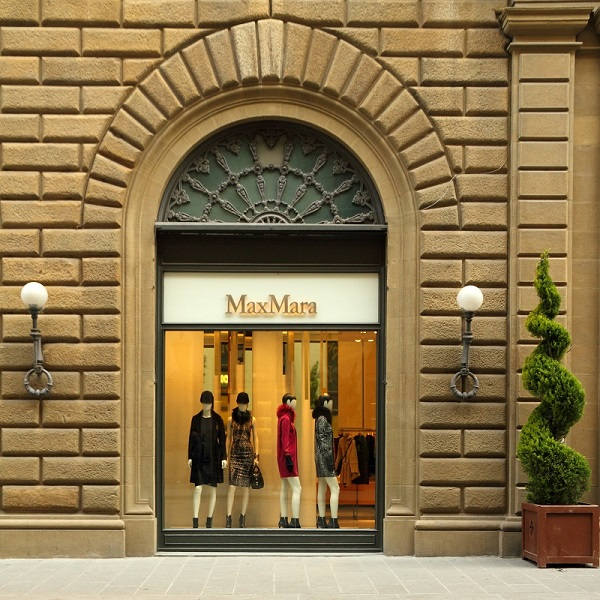 FLORENCE - DEC 9: MAX MARA boutique in Florence on famous for lu