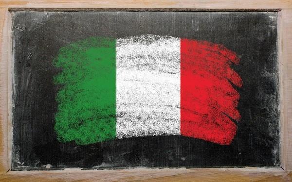 Italiaans-school-bord