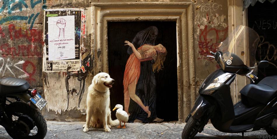 LA MORTE E LA FANCIULLA zilda naples street art