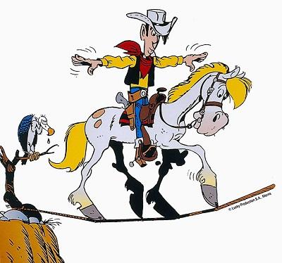 Lucky Luke col fido cavallo Jolly Jumper