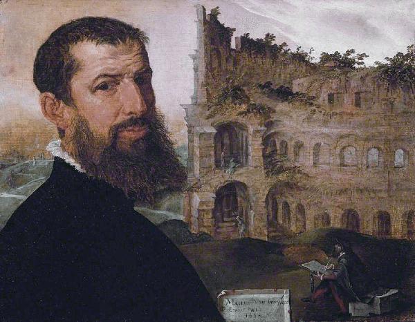 Maarten-van-Heemskerck-zelfportret-Colosseum