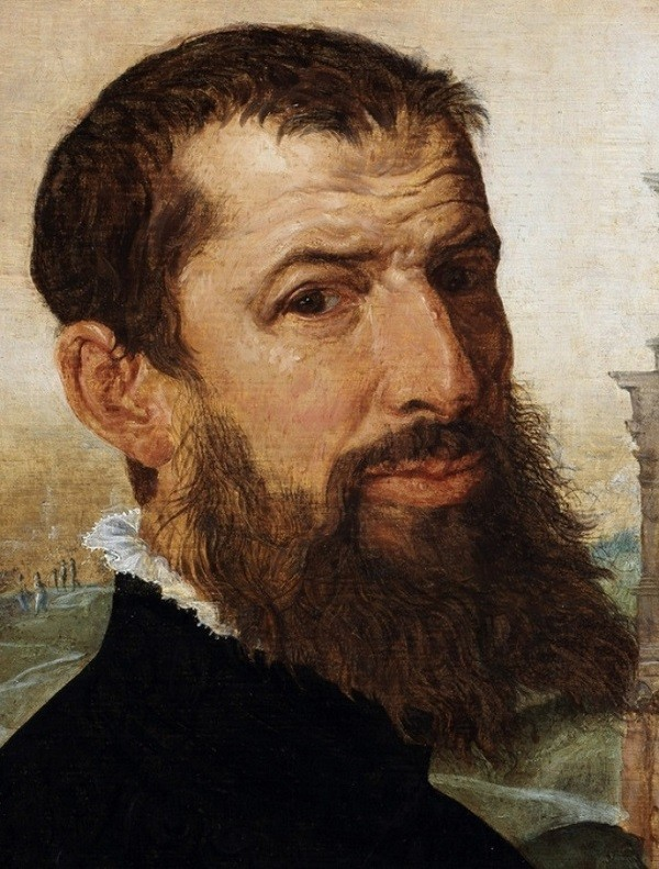 Self Portrait of the Painter with the Colosseum in the Background, 1553 (oil on canvas)