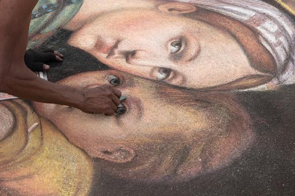 Madonnari-straat-kunst