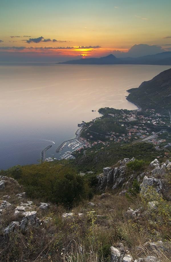 Maratea-zonsondergang