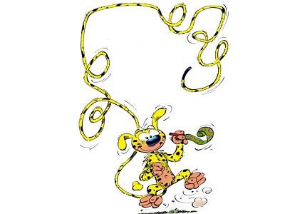 Marsupilami il buffo animale selvaggio dalla lunga coda inventato da Andre Franquin