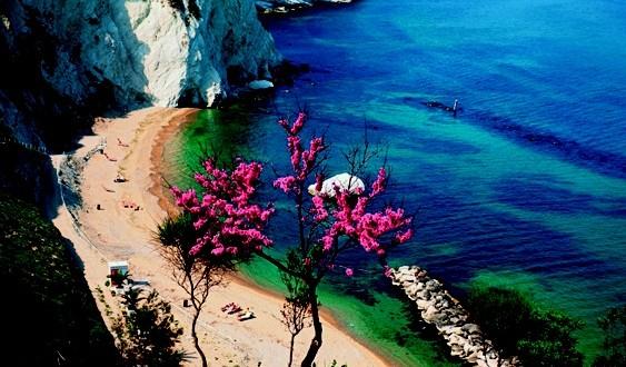 Italien, Marken, Numana, Kueste, Strand, Europa, Marche, Meer