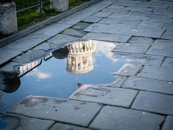 Pisa-toren-regen
