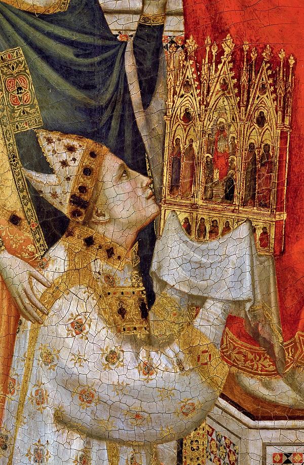 Giotto, Trittico Stefaneschi. Particolare lato anteriore