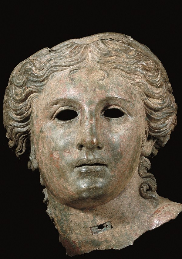 Bronze head of a goddess, probably Aphrodite