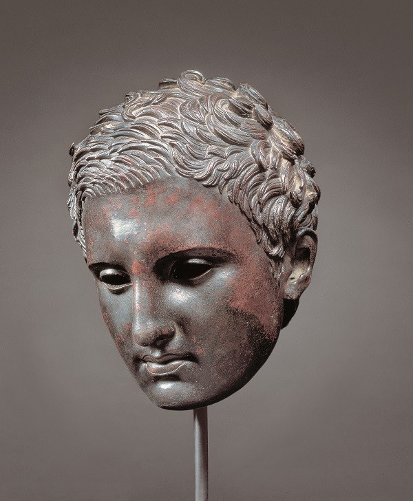 Head of an Athlete (Apoxyomenos). (Complete view). c. 2nd-1st century B.C.